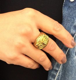 """Ring """"Eule gold"""""""