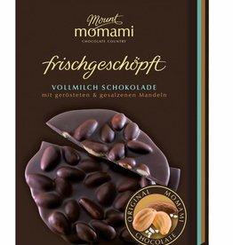 Frischgeschöpfte Vollmilch Schokolade - gesalzene & geröstete Mandeln