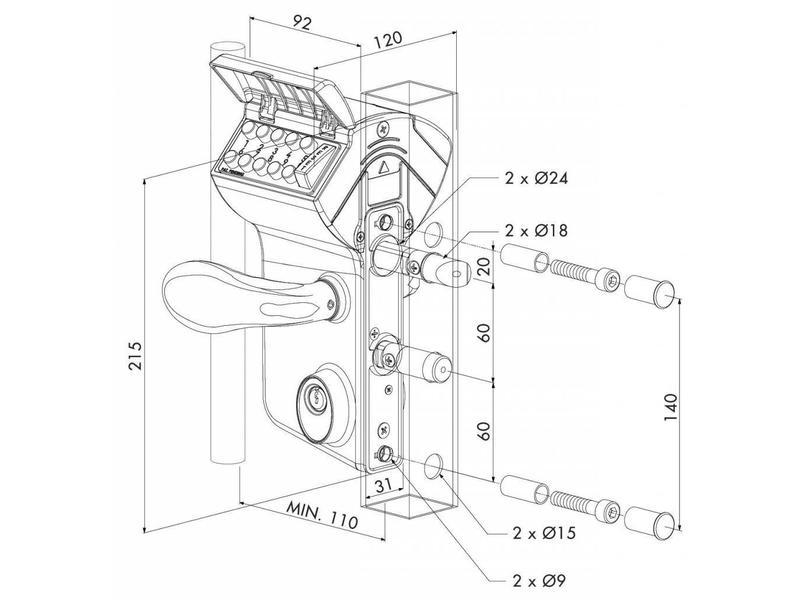 LMKQ V2 | Mechanisch codeslot - kokerprofiel