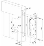 H-WOOD | Roestvrijstalen insteekslot voor houten poorten