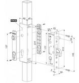 Locinox H-METAL-WB | Insteekslot met 35 mm doornmaat voor inlaskast