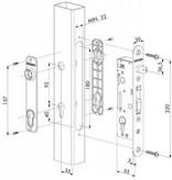 Locinox H-METAL | Insteekslot met 35 mm doornmaat
