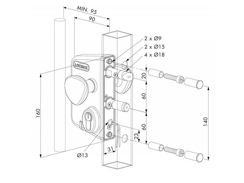 LEKQ U4 | Elektrisch slot - kokerprofiel