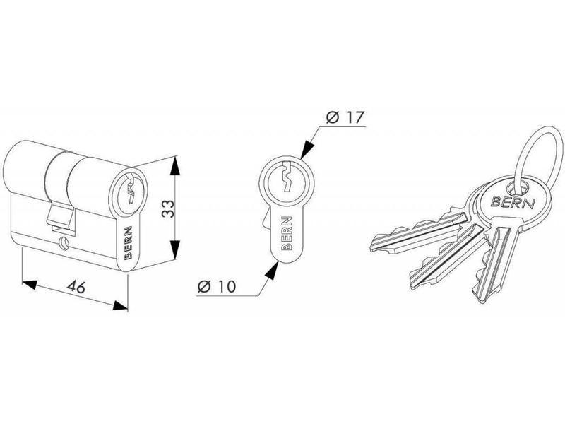 Locinox Cilinder 3012-46-STD | 46 mm