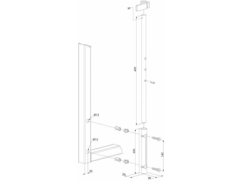 VSF | Standaard opbouwgrondgrendel