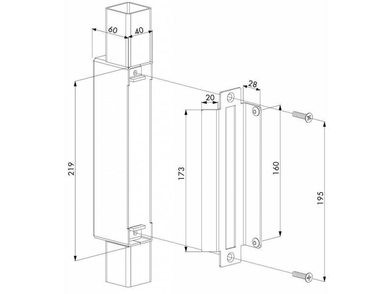 HWKB | Hybrid inlaskast en slotvanger voor H-METAL