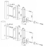 Locinox SHKL QF | Industriële veiligheidsslotvanger - rond profiel