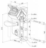 Locinox LMKQ V2   Mechanisch codeslot - plat profiel