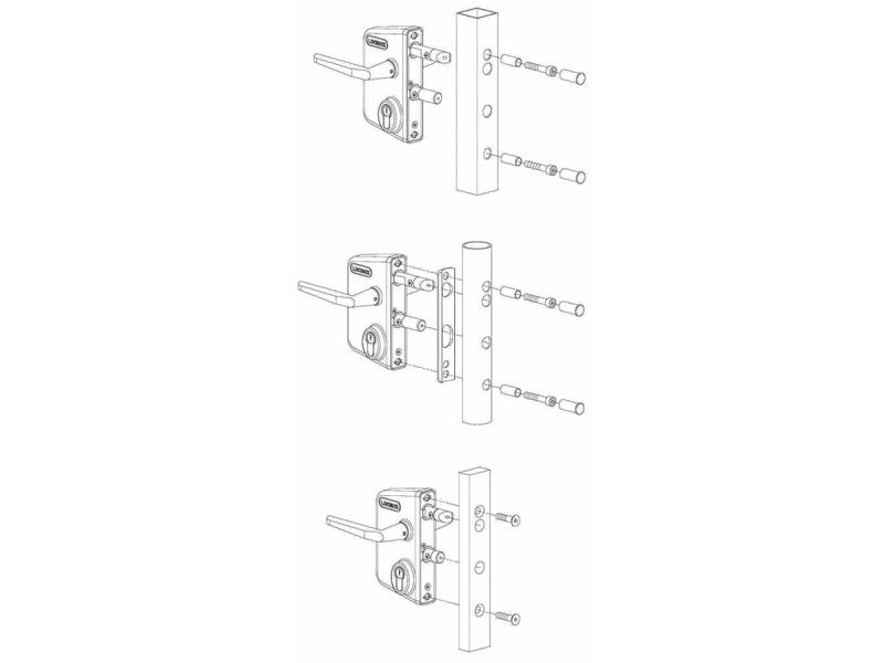 LAKQ U2 | Industrieel slot - rond profiel