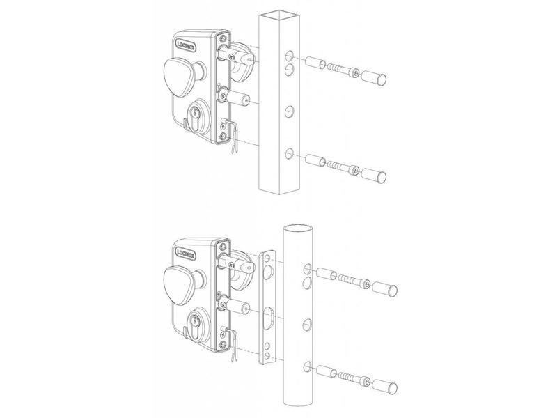 Locinox LEKQ U4   Elektrisch slot - rond profiel