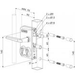 Locinox LDKZ D1 | Dubbel cilinderslot - rond profiel