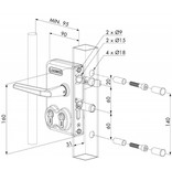 LDKZ D1 | Dubbel cilinderslot - plat profiel
