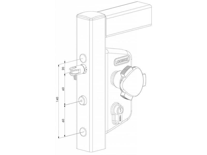 Locinox LAKZ P1 WSI | Zwembadslot- koker 50 mm