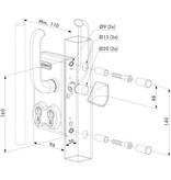 LGKZ D1 | Dubbel cilinderslot - kokerprofiel