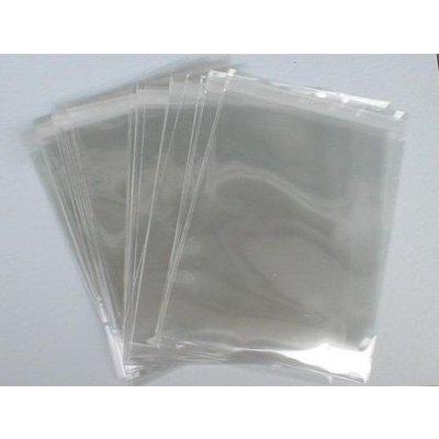PP-Adhäsionsverschlußbeutel, Format: 250 x 350 + 50 mm (B x H + Klappe), DIN C4, 50 my Stärke, hochtransparent, hochglänzend, unbedruckt, ***