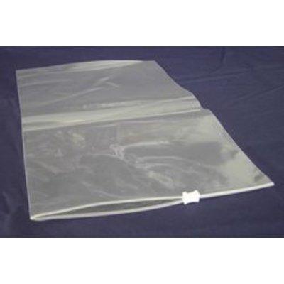 LDPE-Gleitverschlußbeutel, Format: 160 x 220 mm (B x H), 60 my Stärke, transparent, unbedruckt, mit weißem Kunststoffschieber