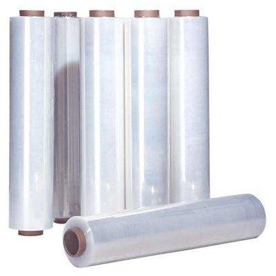 LDPE-Stretchfolie (für Handabroller), 500 mm Breite, 17 my Stärke, 50 mm Kerndurchmesser, 2,4 kg/Rolle, transparent, unbedruckt -- absoluter Sonderpreis !!