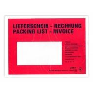 """Dokumententaschen, DIN C 6, ca. 135 x 180 mm (B x H), bedruckt mit """"Lieferschein-Rechnung"""" (1 VE = 250 St.)"""