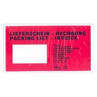 """Dokumententaschen, DIN Lang, ca. 135 x 235 mm (B x H), bedruckt mit """"Lieferschein-Rechnung"""" (1 VE = 250 St.)"""