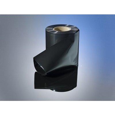 LDPE-Schlauchfolie, 100 mm Breite, 100 my Stärke, 250 lfm. je Rolle, schwarz-opak, unbedruckt
