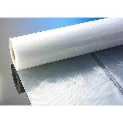 Flachfolie, 4.000 mm Breite (gefaltet auf 1.000 mm), 100 my Stärke, 50 lfm. je Rolle (= 1 VE), transparent, unbedruckt