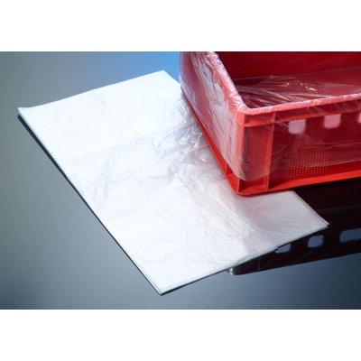 HDPE-Seitenfaltenbeutel, transparent, Format: 620 + 400 x 920 mm (B + SF x H), 18 my Stärke, unbedruckt