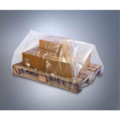 LDPE-Seitenfaltenschrumpfhaube,transparent, Format: 1.250 + 950 x 2.100 mm (B + SF x H), 120 my Stärke, unbedruckt