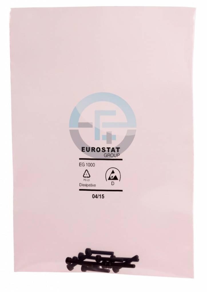 Antistatik Flachbeutel rosa-transparent
