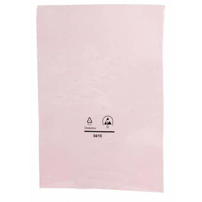 Antistatik-Flachbeutel,  76 x 102 mm, 90 my, rosa-transparent (1 VE = 2.000 St.)