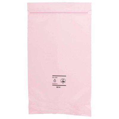 Antistatik-Druckverschlußbeutel, 76 x 127 mm, 90 my, rosa-transparent (1 VE = 1.000 St.)