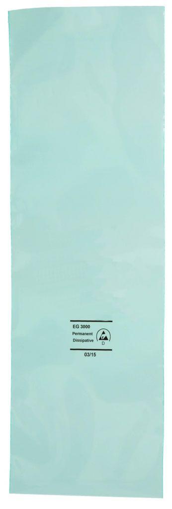 Permanent Antistatik Flachbeutel grün-transparent