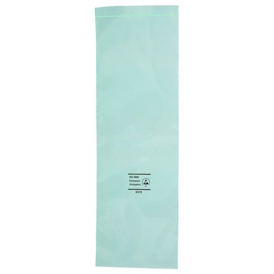 Permanent Antistatik-Druckverschlußbeutel, 76 x 102 mm, 75 my, grün-transparent (1 VE = 1.000 St.)