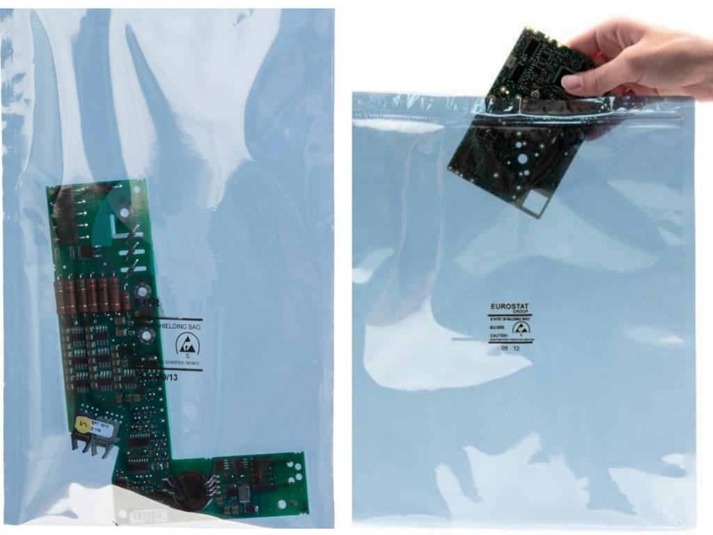 Metallisierte Abschirmbeutel transparent
