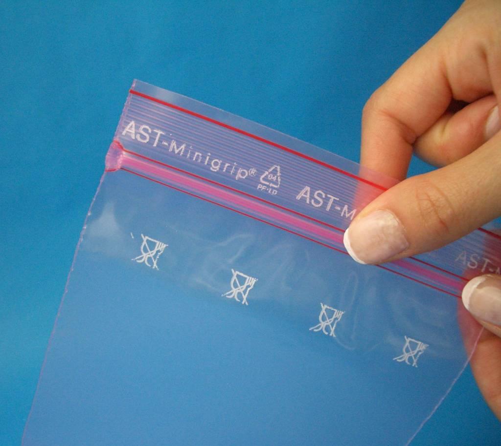 Antistatik Druckverschlußbeutel (minigrip) rosa-transparent 75 my bzw. 80 my stark
