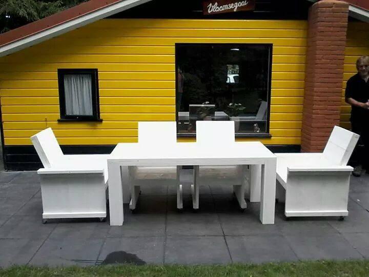 tuintafel 80 cm breed tot 300 cm lang rechte poten steigerhout r de b meubels op maat. Black Bedroom Furniture Sets. Home Design Ideas