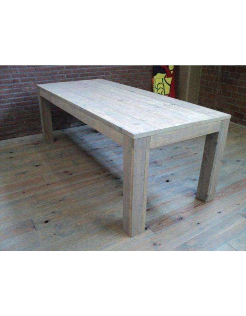 tuintafel 100 cm breed tot 300 cm lang rechte poten steigerhout r de b meubels op maat. Black Bedroom Furniture Sets. Home Design Ideas