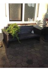 Tuinbank met 10 cm leuningen, zitting 50 cm diep