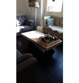 Tafelblad 60 cm breed tot 150 cm lang - Steigerhout