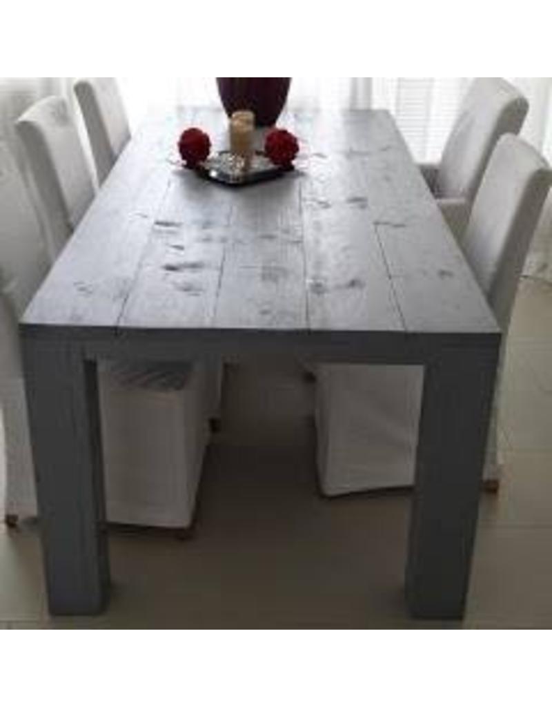 eetkamertafel 80 cm breed tot 300 cm lang rechte poten r de b meubels op maat. Black Bedroom Furniture Sets. Home Design Ideas