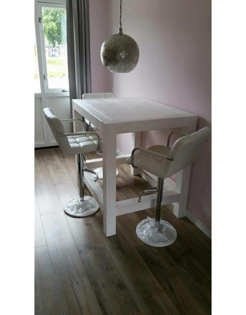 eetkamertafel 90 cm breed tot 300 cm lang rechte poten r de b meubels op maat. Black Bedroom Furniture Sets. Home Design Ideas