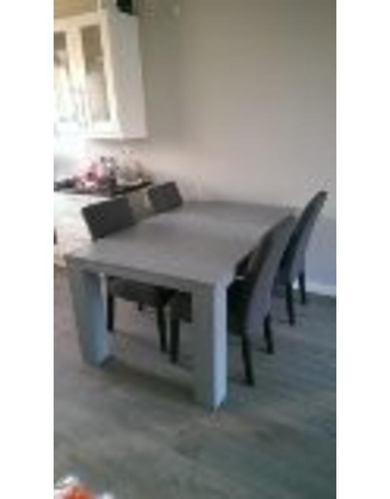 eetkamertafel 100 cm breed tot 300 cm lang rechte poten r de b meubels op maat. Black Bedroom Furniture Sets. Home Design Ideas