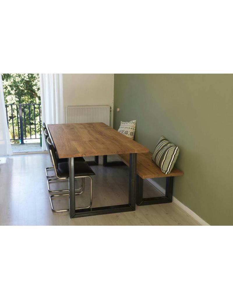 tafelblad 90 cm breed tot 300 cm lang massief eiken r de b meubels op maat. Black Bedroom Furniture Sets. Home Design Ideas