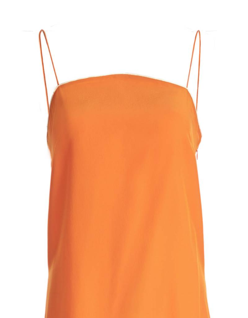 Orange Silk Top