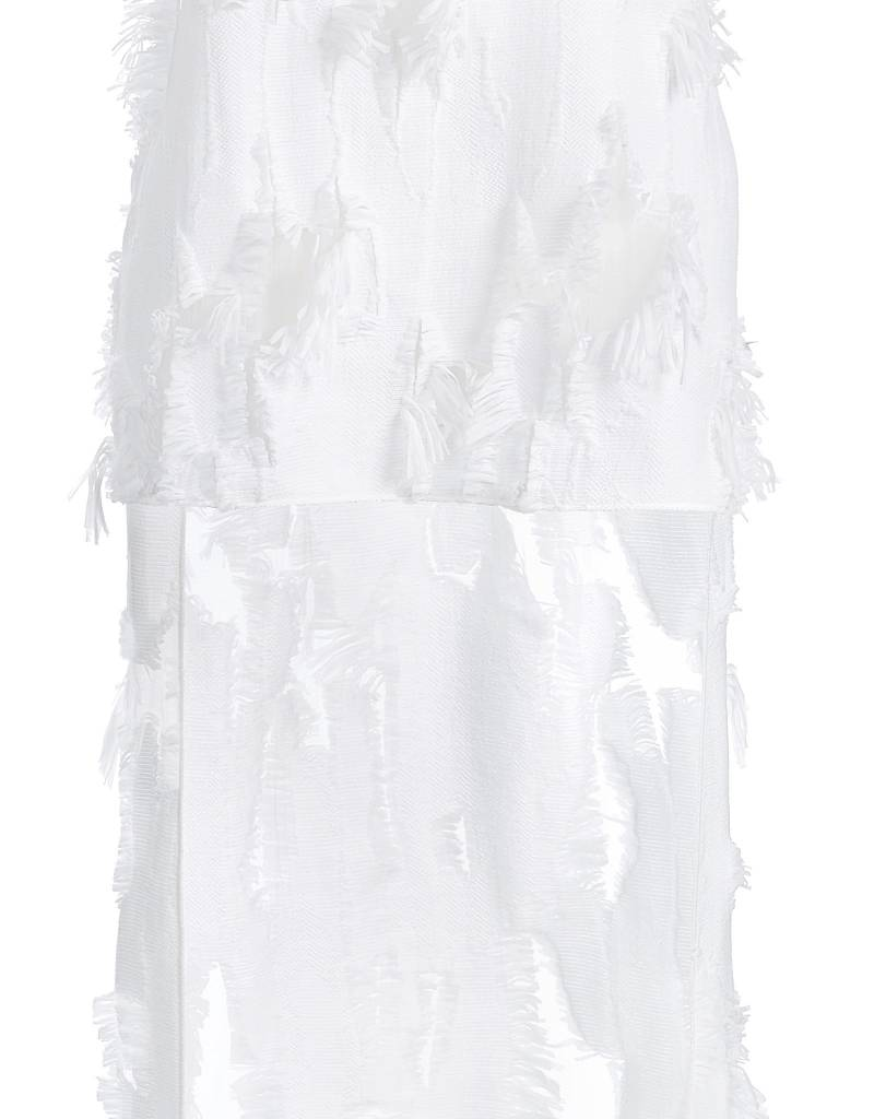 Raffled White Top