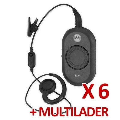 Motorola CLP446 portofoonset (6 stuks) met multilader