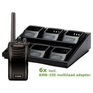 Kenwood TK-3501 set 6 portofoons multilaadadapter