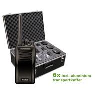 Kenwood TK-3501E protalk portofoonset (6 stuks) incl. transportkoffer