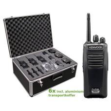 Kenwood TK-3401 Protalk portofoonset (6 stuks) incl. transportkoffer