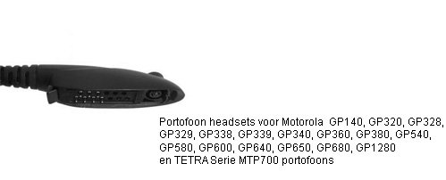 Portoon headsets met M4 connector