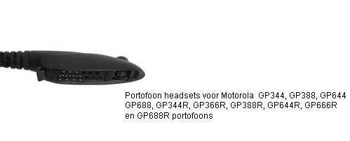 Portofoon headsets met M5 connector